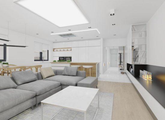 Návrh obývacej izby vily na Kolibe