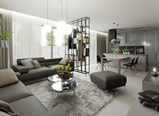 Obývačka drevodomu